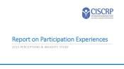 2015 CISCRP Perceptions & Insights Study: Participant Experiences