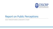 2015 CISCRP Perceptions & Insights Study: Public Perceptions